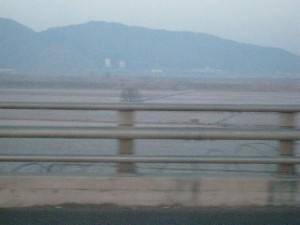 Closer shot of North Korea.