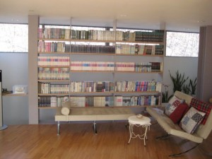 One of the many many collections of books. My room downstairs is flanked by them too.