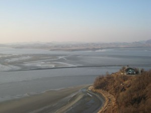North Korea - maybe 4 km away from it