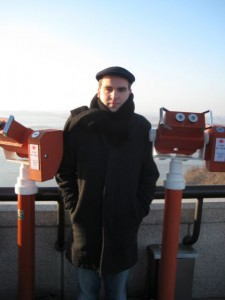 North Korea in the background. It's VERY COLD THERE.