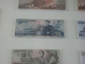 5 North Korean won = 3.5 US cents.