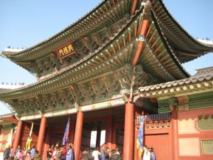 Hongremun entrance gate at Gyeongbokgung (palace from the 14th century)