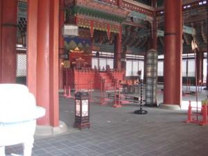 Throne room in Geunjeongjeon