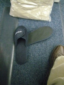 Slippers from BusinessElite on Delta.