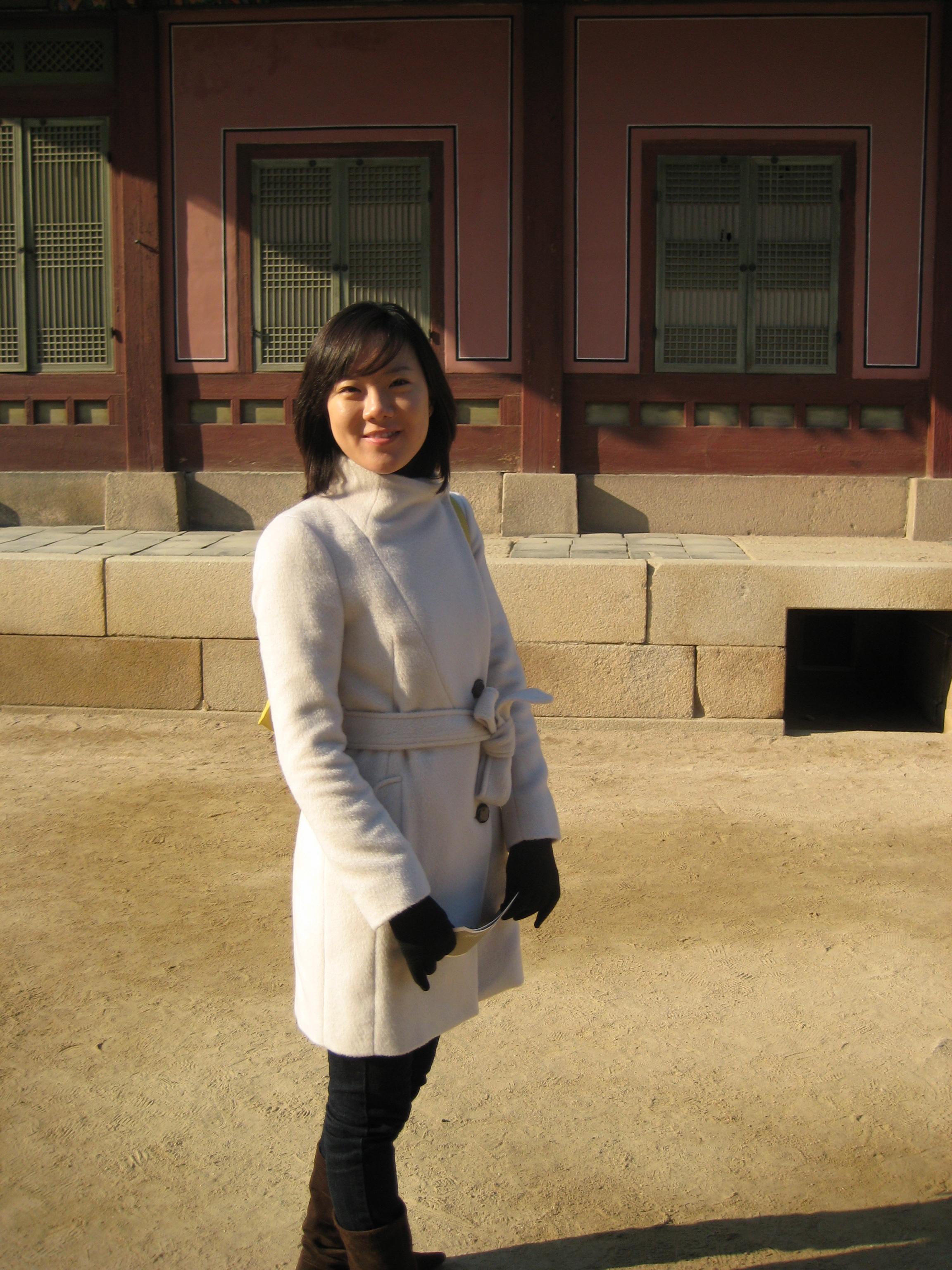 Sonia at Gyeongbokgung